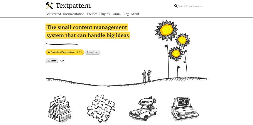 Лучшие платформы для блога - textpattern