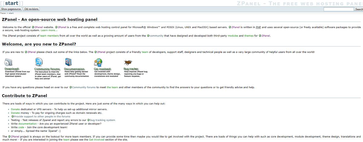 Бесплатные панели управления хостингом - ZPanel