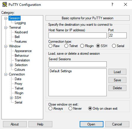 Инсталляция на Windows PuTTY