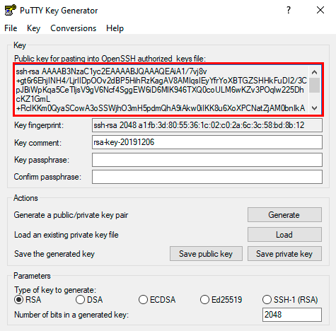 Использование SSH-ключей PuTTY
