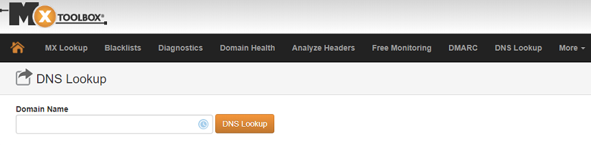 Проверка DNS-записей домена - DNSLookup