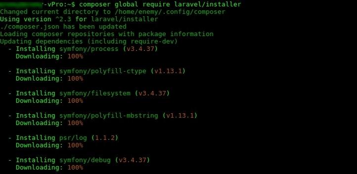 Установка Laravel в Ubuntu