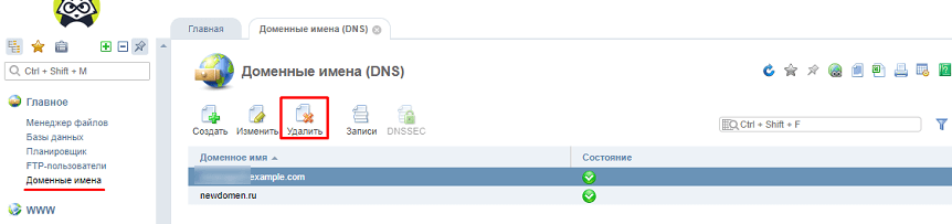 Отвязка доменного имени от старого хостинга ISPManager